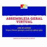 Assembleia Geral Virtual de 9/9, às 10h, vai discutir retorno ao trabalho